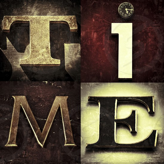 Time. Clock. Letters. photo