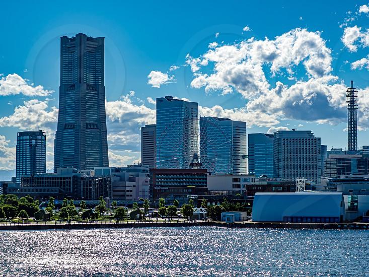Minatomirai YOKOHAMA JAPAN 16 Jun 2019 The day view of the Yokohama Minato Mirai 21 area. photo
