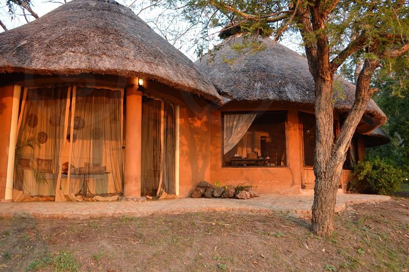 Zambezi river hut photo