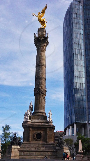 """Golden """"Angel of the Independence"""" in down town Mexico City. photo"""