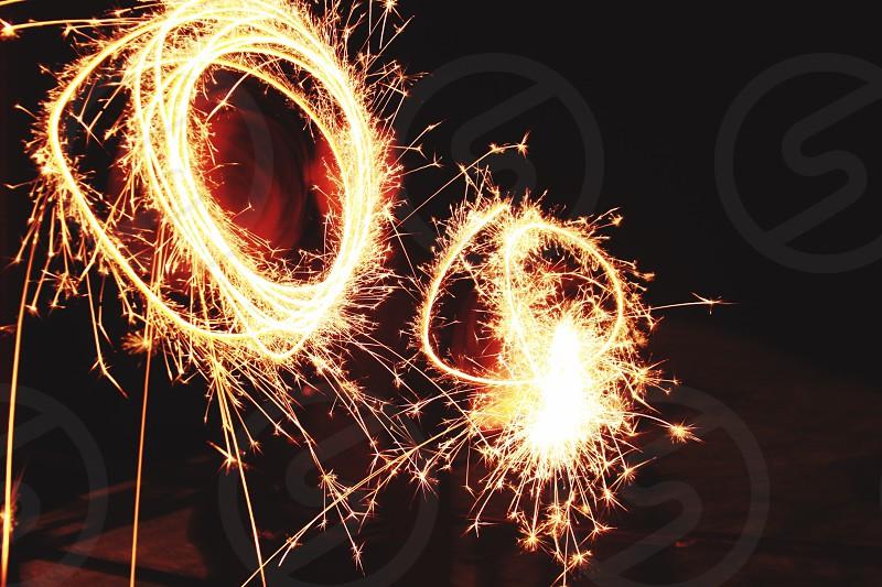 fireworks new year night show celebration photo