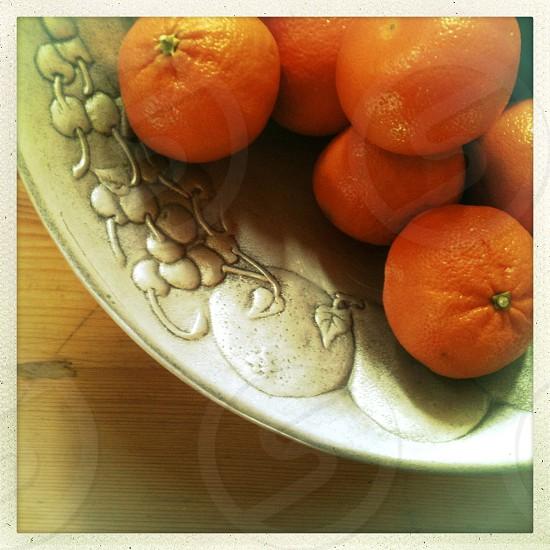 Bowl of Oranges photo