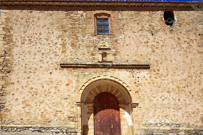 Moscardon church in Sierra Albarracin of Teruel Spain photo