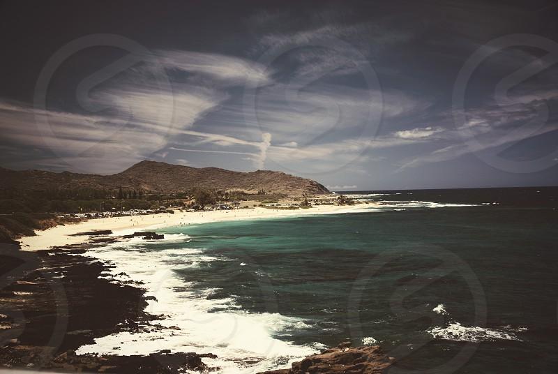 Beach Ocean Hawaii Clouds Sky photo