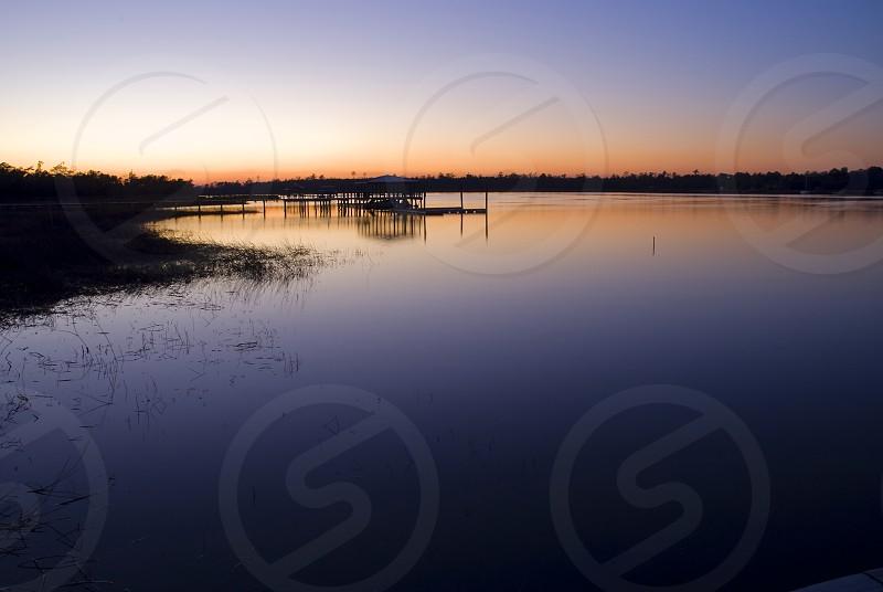 Sunset on Wando River SC photo
