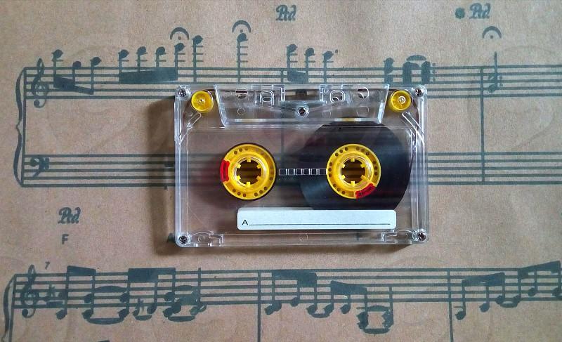 Music tape retro style photo