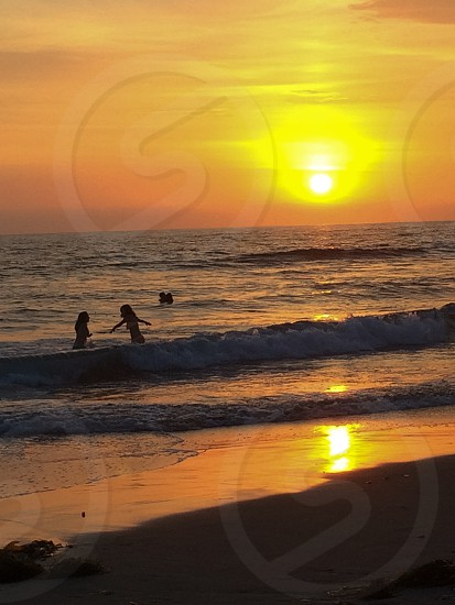 Beautiful Pacific beach San Diego sunset photo