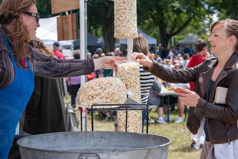 Popcorn kettle corn fair snack sweet concession small business food truck money photo