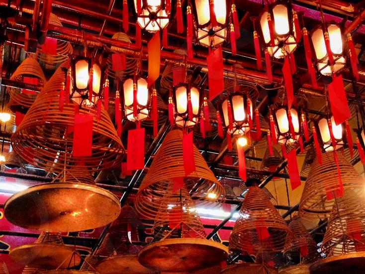 lighted lanterns photo