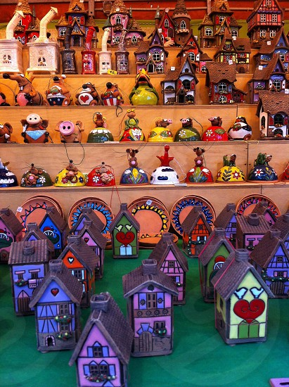figurines on shelf photo