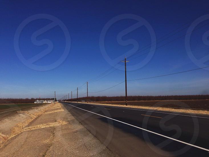 grey concrete road  photo