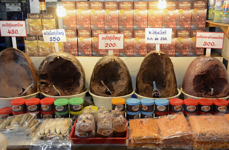 chili paste at the day Market in the city of Phuket on the Phuket Island in the south of Thailand in Southeastasia. photo