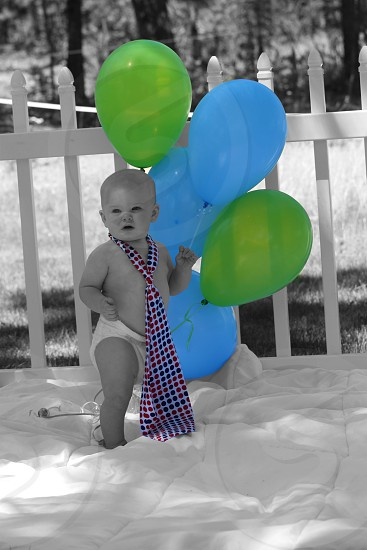 Black & White Color Splashed Balloons photo