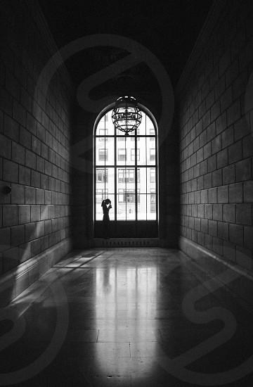 Bnw shadow portrait photo