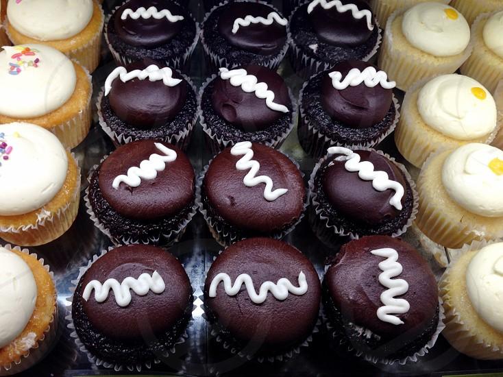 chocolate muffins photo