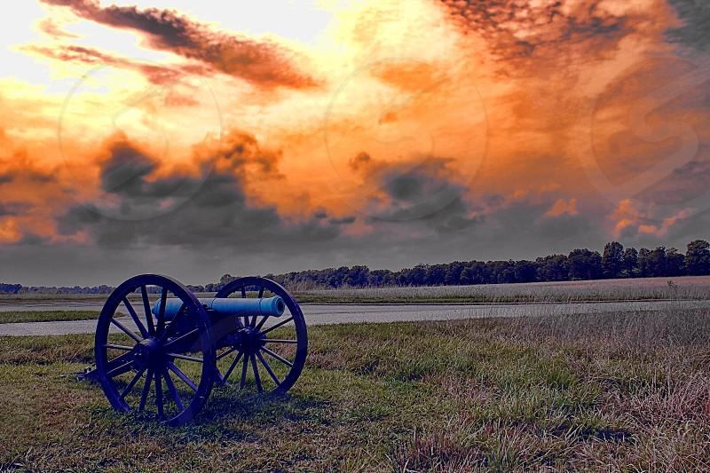 Cannon at Pea Ridge - Civil War battlefield photo