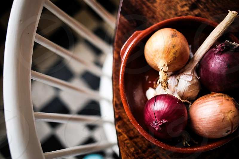 Collected onions photo