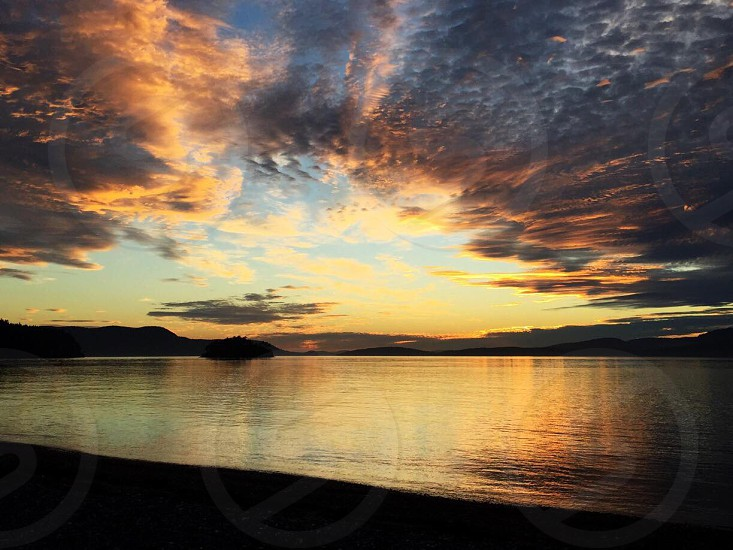 Sunset on the San Juan Islands photo