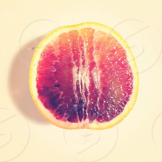 red and yellow grapefruit photo