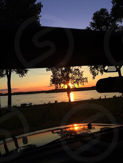 Mississippi River Sunset photo