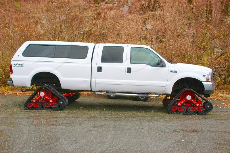 Needs more snow. Half tracked truck photo