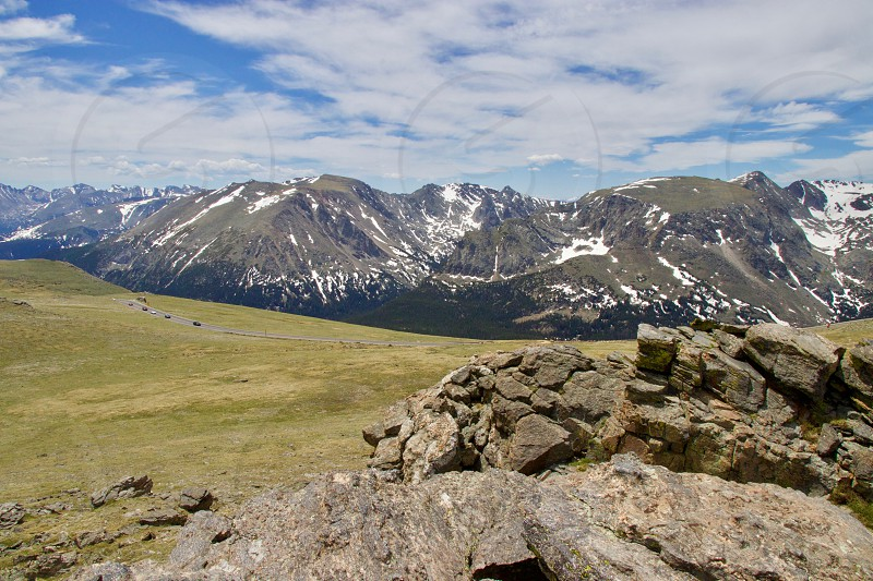 continental divide with road photo