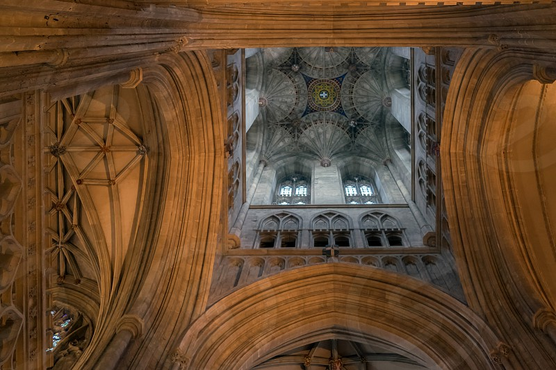 Interior View of Canterbury Cathedral photo