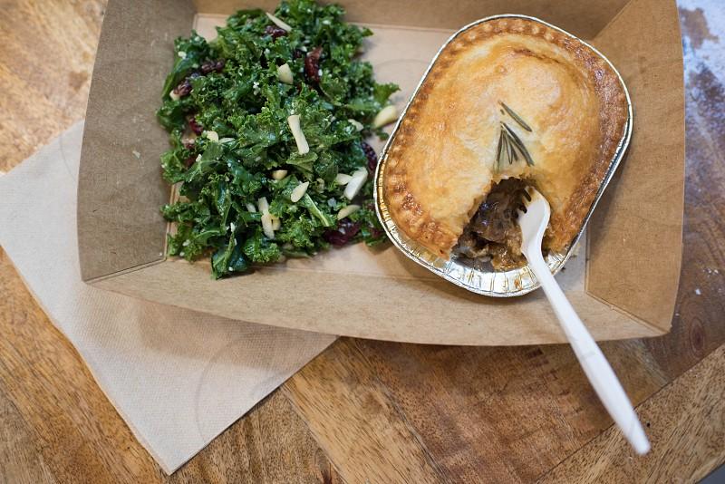 double crust pie kale salad foodmarket photo