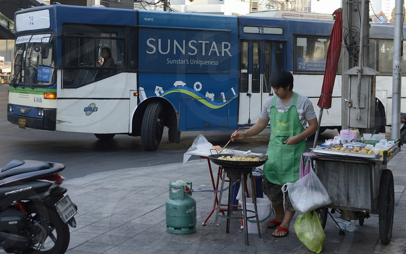 a thai fast food near Pratunam in the city of Bangkok in Thailand in Southeastasia. photo