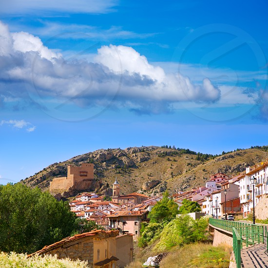 Alcala de la Selva in Teruel village near ski slopes of virgen de la Vega at Spain photo