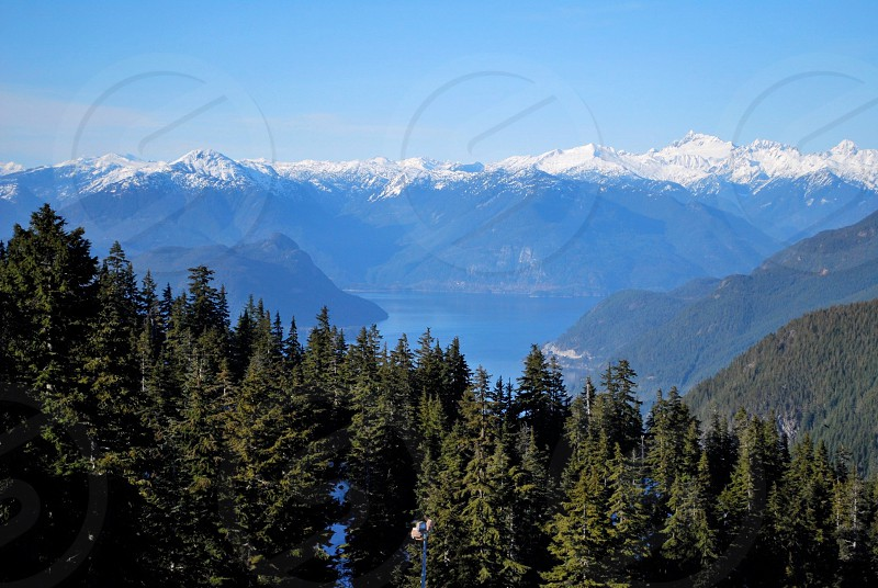 The view from cypress mountain ski area in West Vancouver Canada. photo
