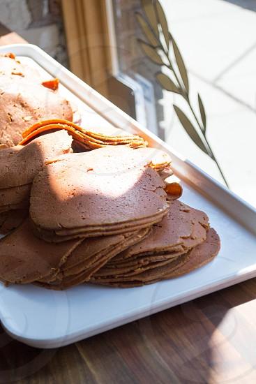 pancakes on tray photo