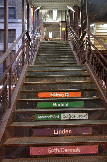 Stairs to get to public transportation. photo