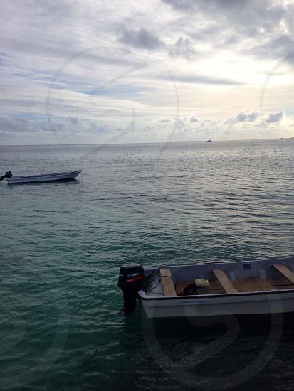 white frigate boat on sea photo