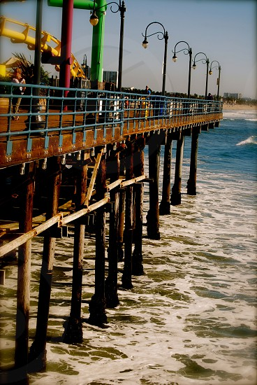 brown wooden sea dock photo