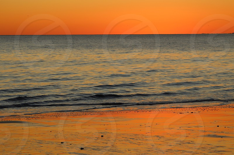 Sunsetocean beach photo