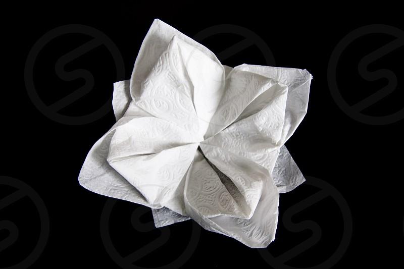 Napkin  flower napkin.  photo