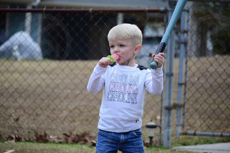 Summertime popsicles and baseball photo