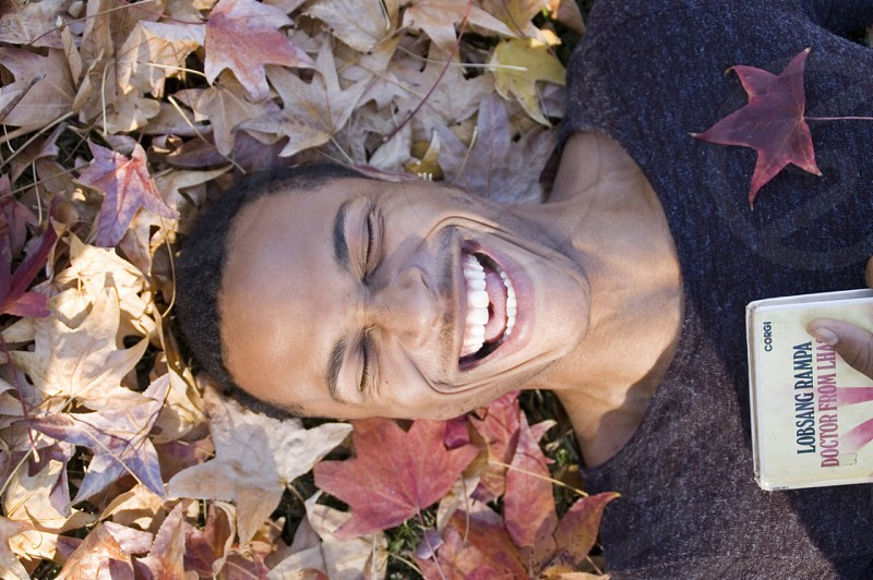 Laughing young man. photo