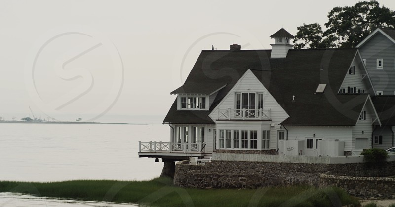CT Connecticut water beach harbor house photo