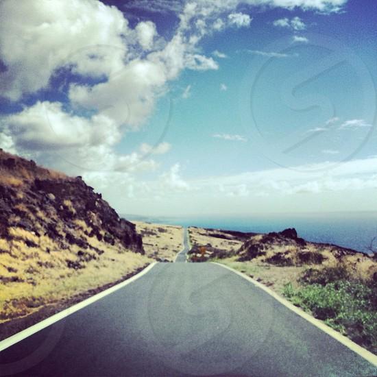The back road to Hana on the island of Maui. photo