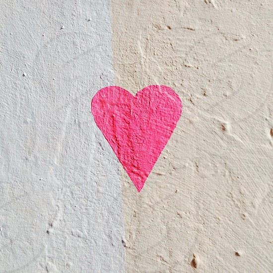 Pink heart graffiti  photo