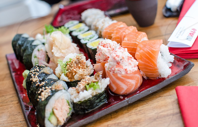 Food Dish Sushi Fine Dining Asian photo