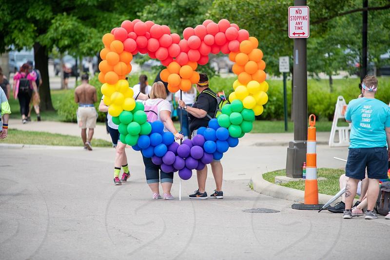 Pride Pride parade lgbt lgbtq Columbus Ohio rainbow acceptance people heart photo