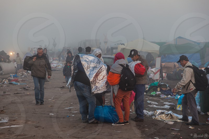 Refugees in Hungary photo