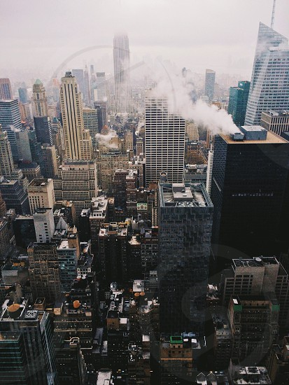 white high rise buildings photo