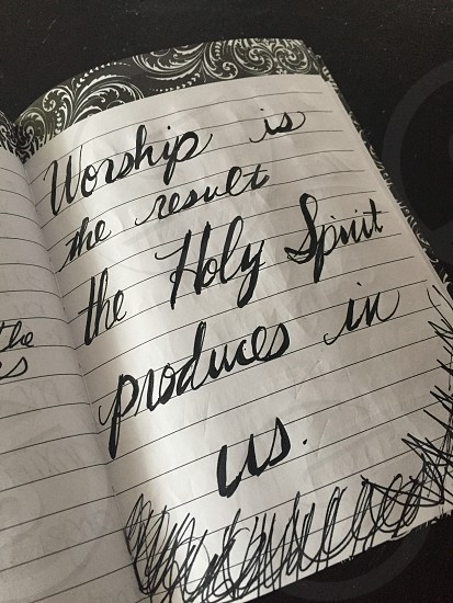 worship is the result the holy spirit produces in us photo