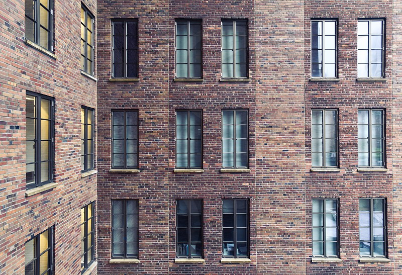 brick new york apartment building structure windows photo