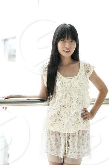 Portrait of a cute Asian girl. photo