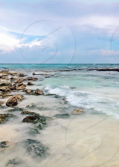 Mexico beach ocean clear ocean beauty photo
